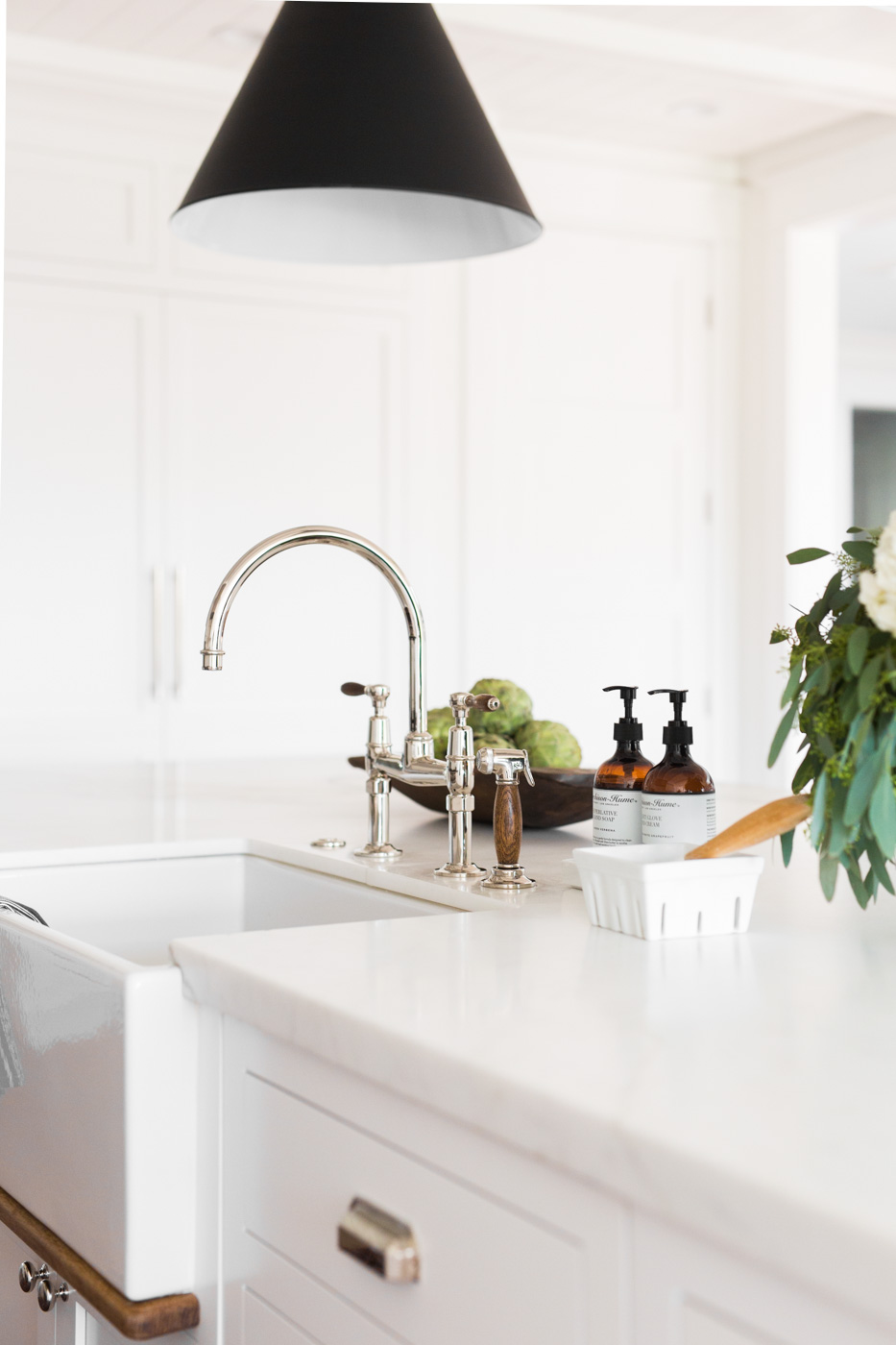 Waterworks faucet with wood handles || Studio McGee