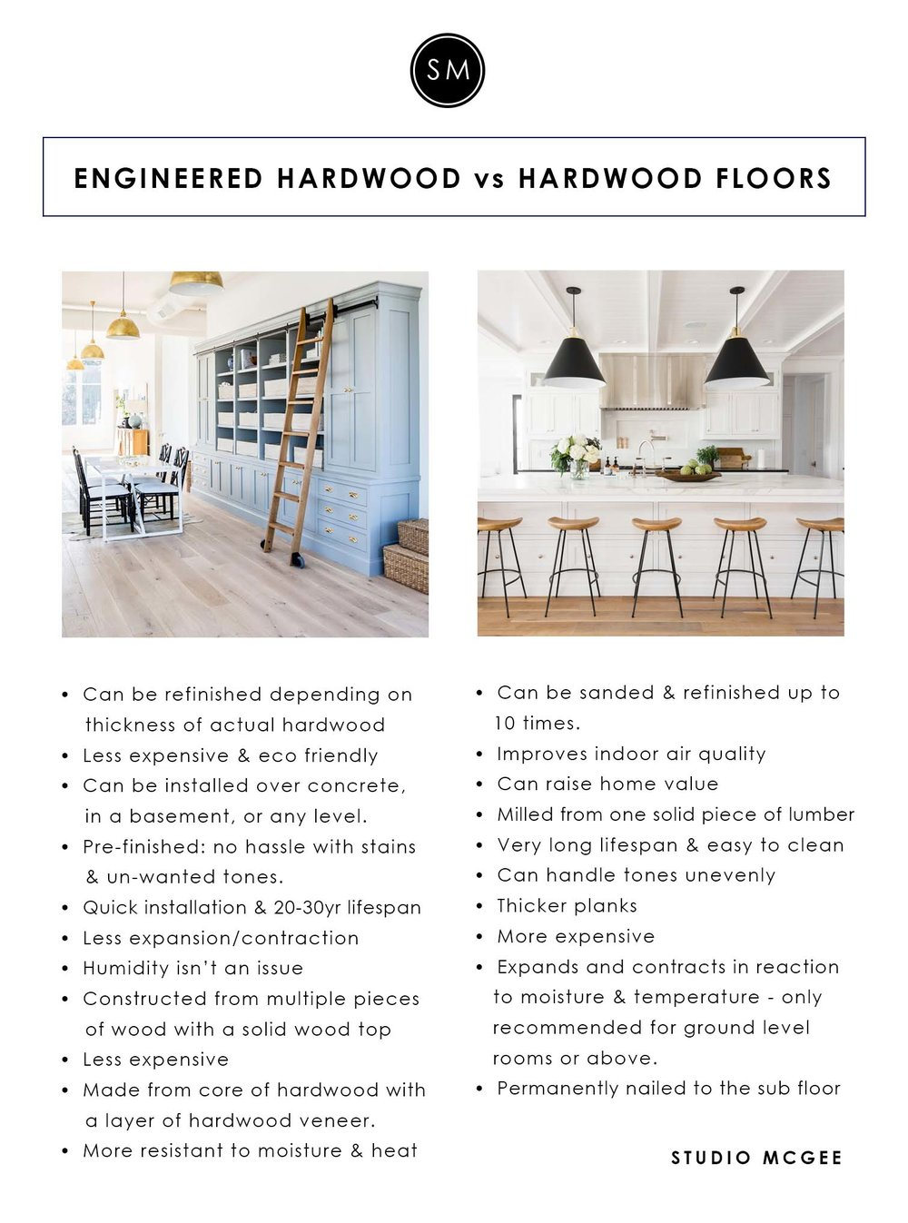 Studio McGee | Engineered vs. Hardwood Floors