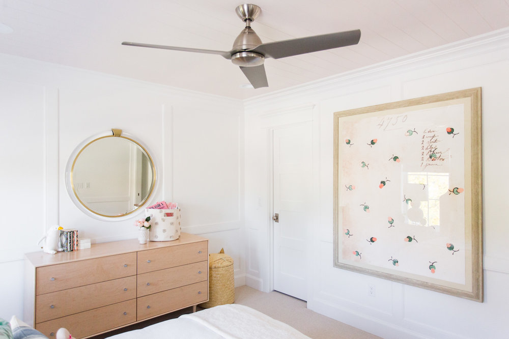 Modern white bedroom for a little girl