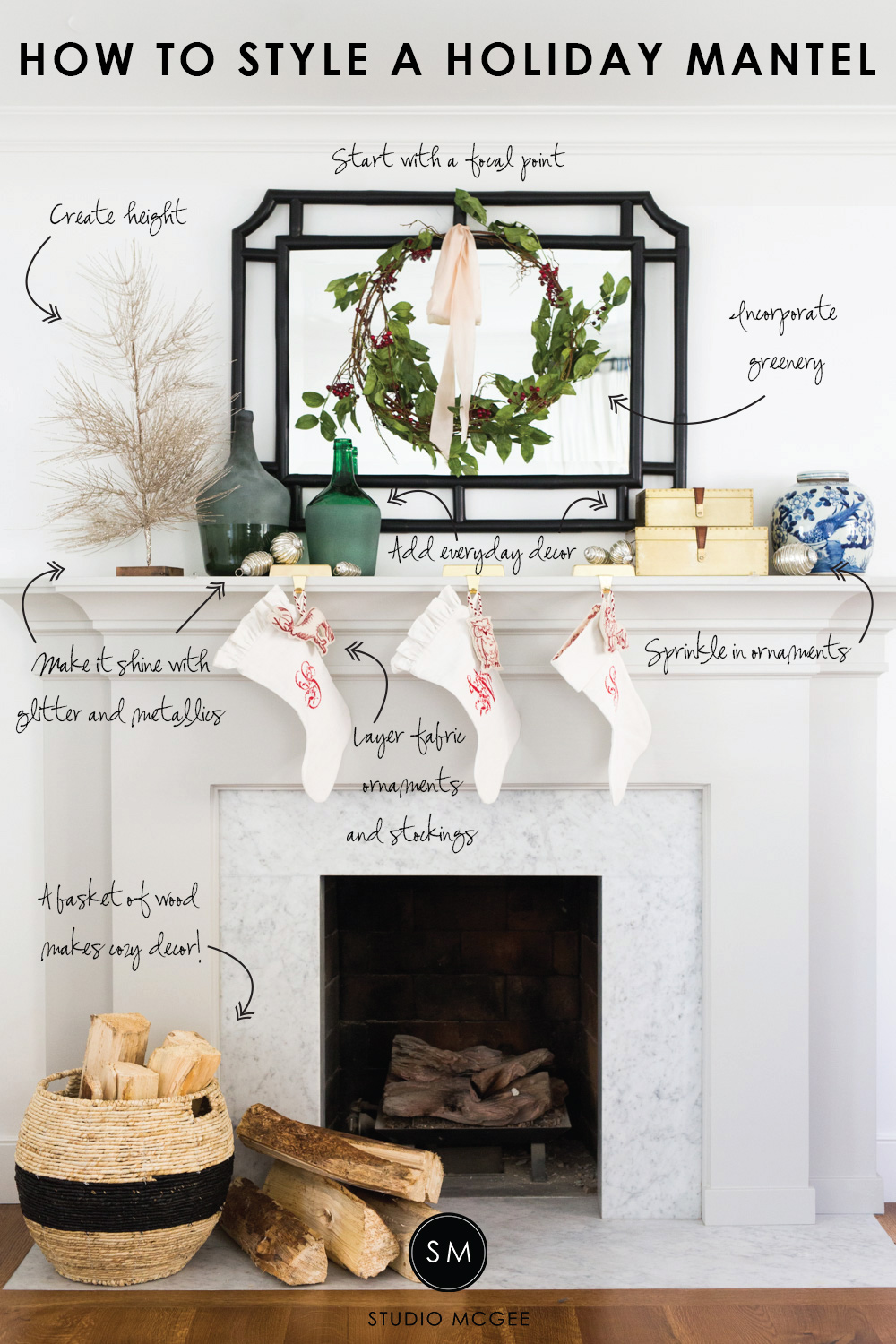 How to Style a Holiday Mantel