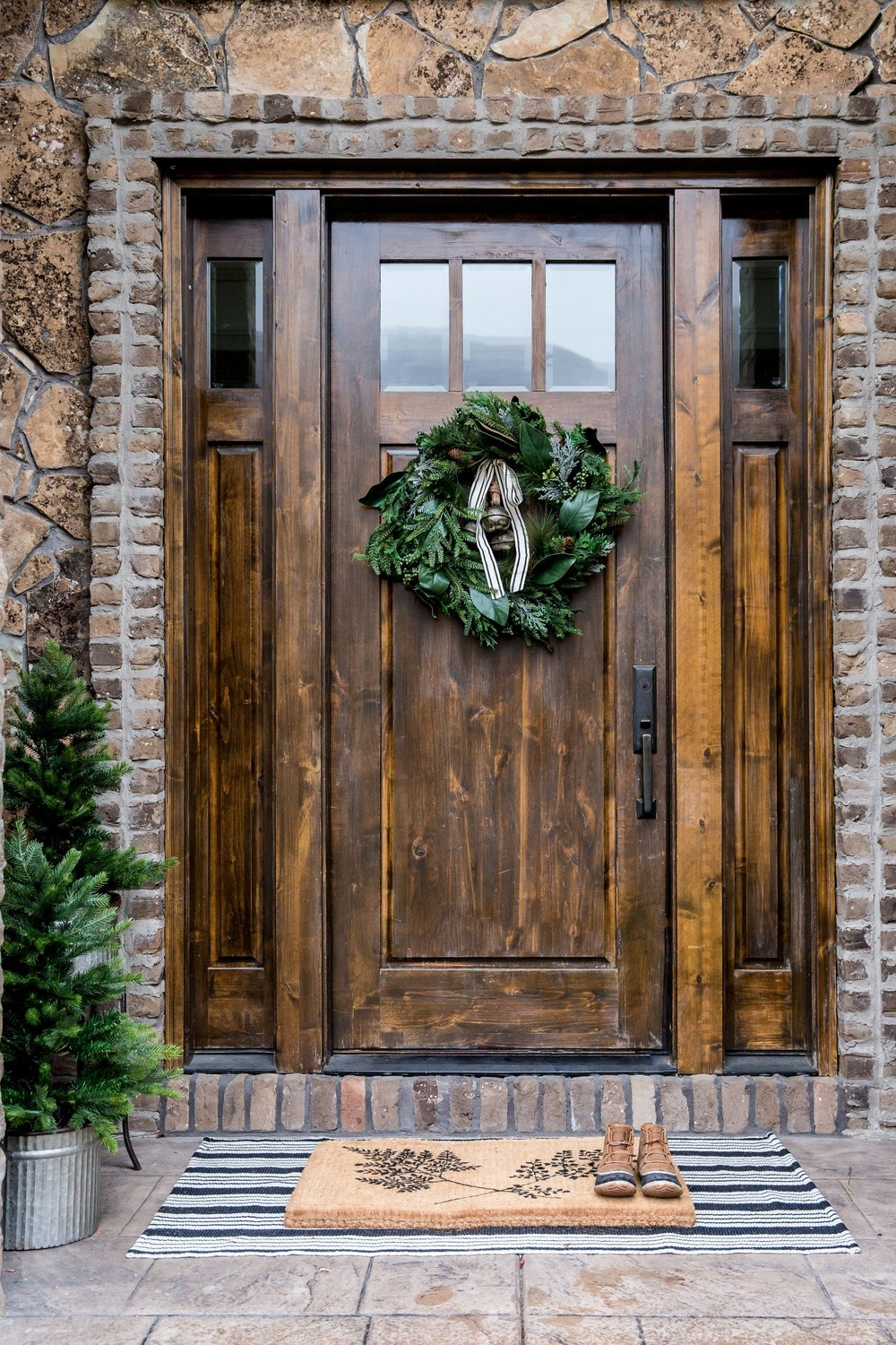 Christmas styling guide studio mcgee for Wooden door ideas
