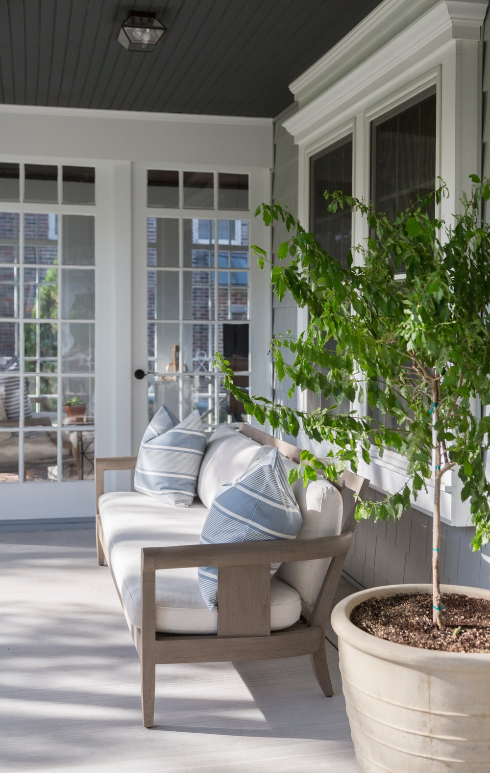 Haddonfield Project Exterior Sitting Room Office