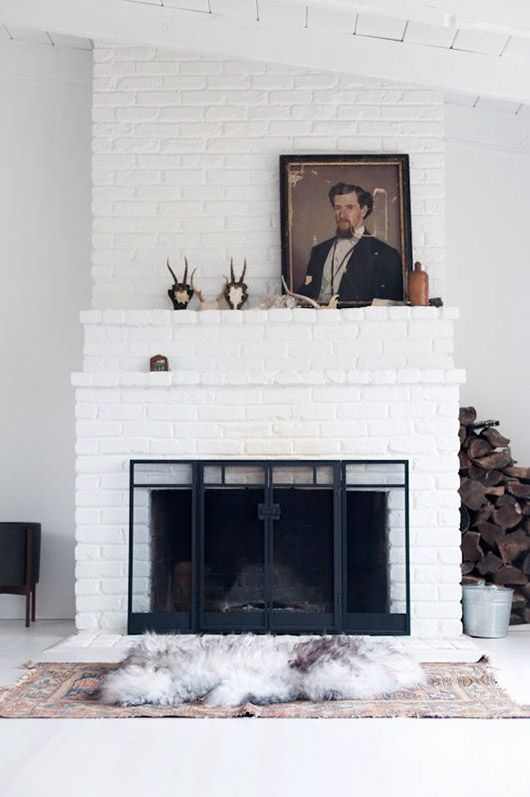 fireplaces are always an important part of a space and serves as a beautiful focal point see more painted brick fireplaces and more of our favorite