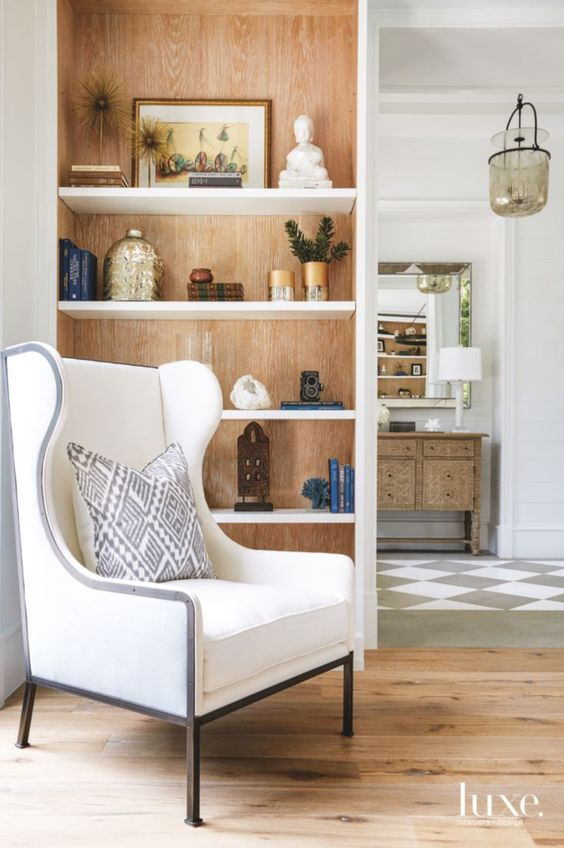 The Natural Oak In This Built Shelving Pairs So Good With White Floors And Bright Details Space