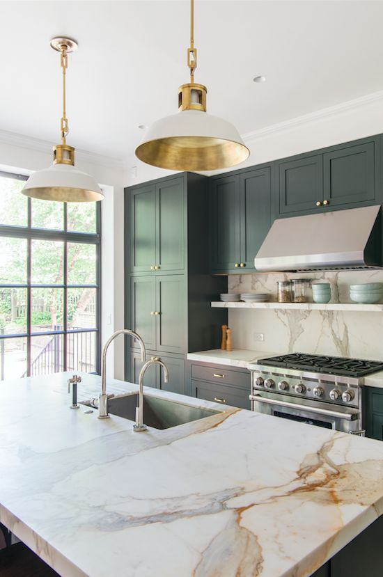 2018 Kitchen Trend: Blue and Green Cabinets - Realty Times