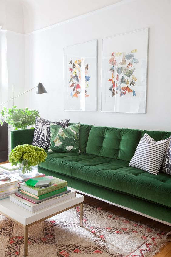 Or You Can Try A Dark Green Painted Furniture Piece. If Youu0027re Feeling  Particularly Wild, You Can Even Do Green Leather Chairs!