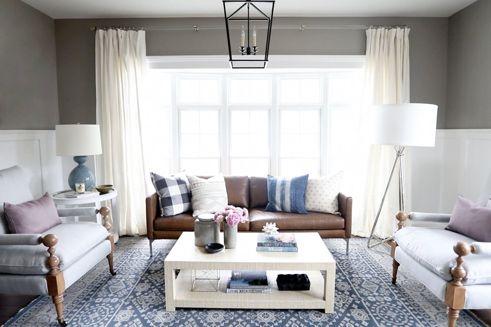Sofa, love seat, and chairs in Parley living room