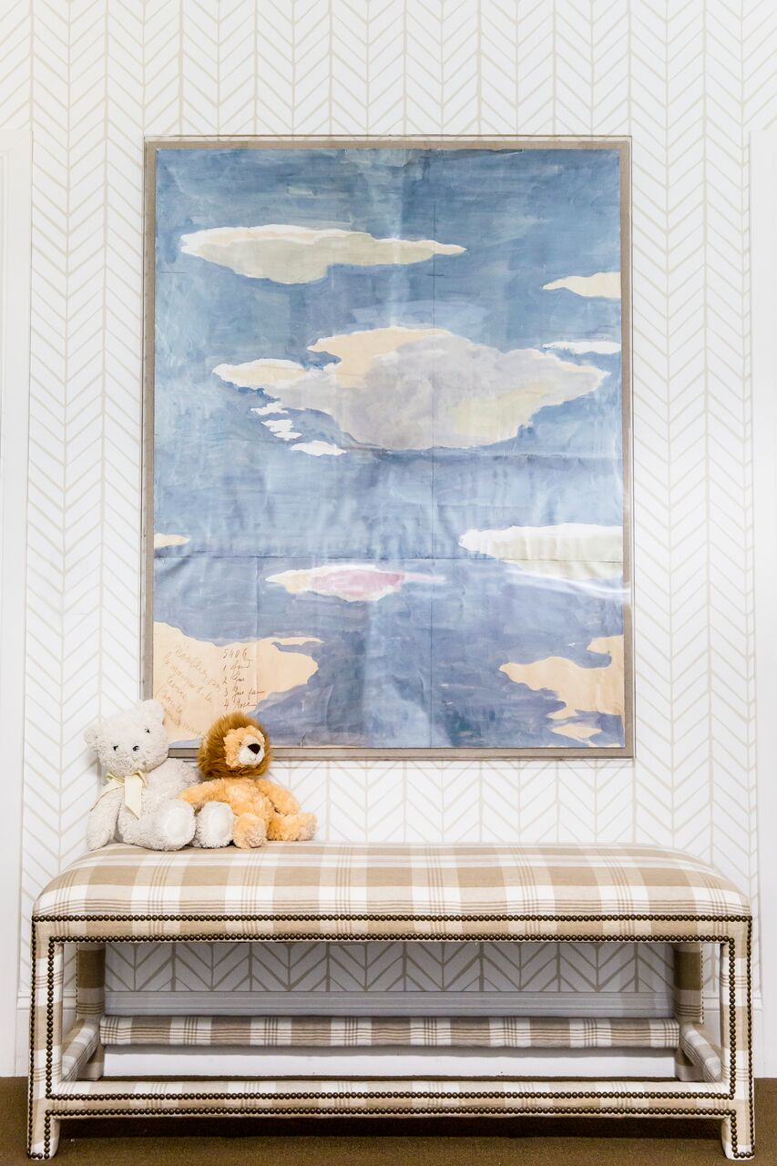 Kid space with fun, playful artwork