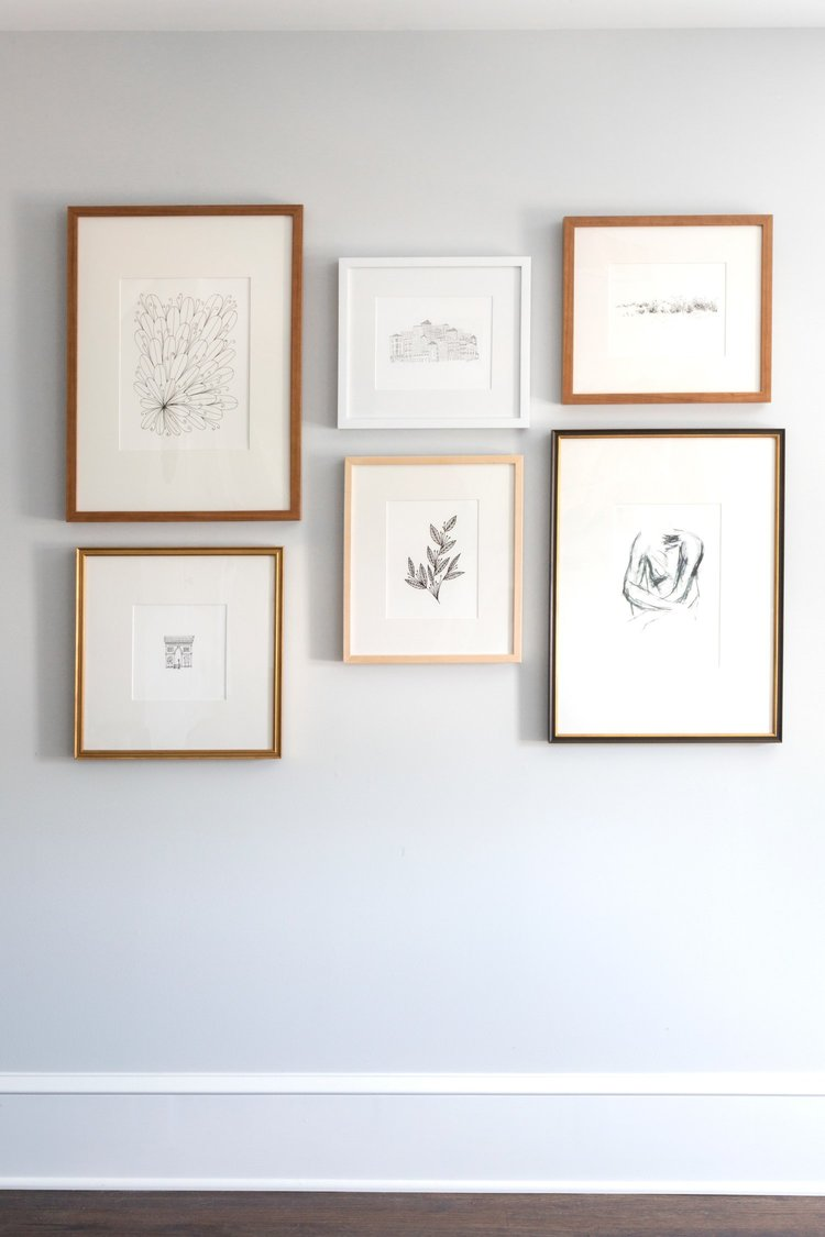 Make Things Easier On Your End By Tracing The Frames On A Paper And Using  Painting Tape To Create A Layout On The Wall Before You Have To Put Holes In  The ...