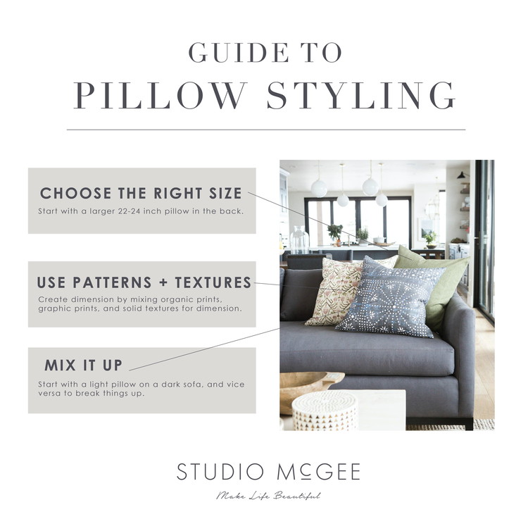 How to Style Your Throw Pillows — STUDIO MCGEE
