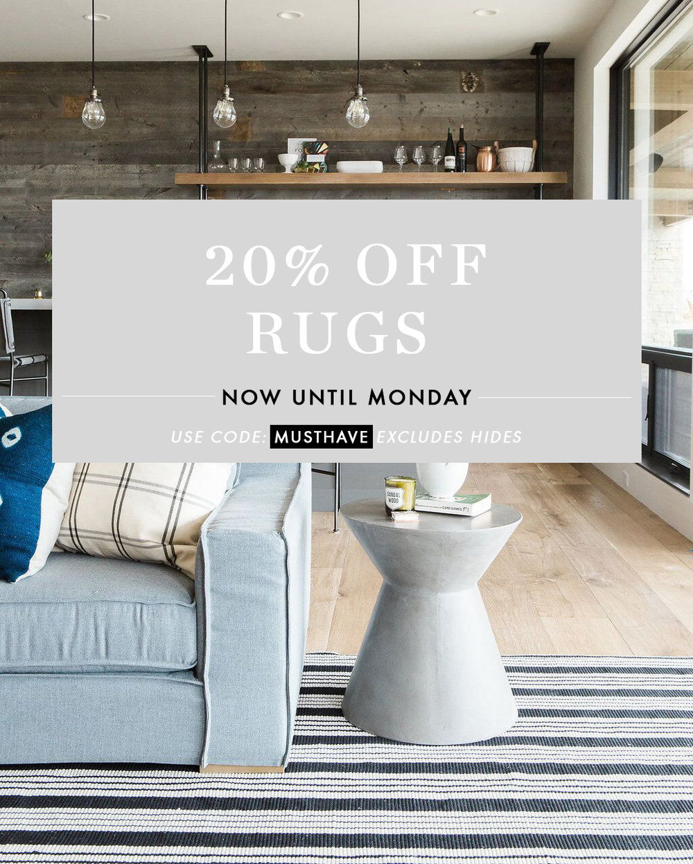 This Weekend Only: 20% Off Rugs at McGee & Co.