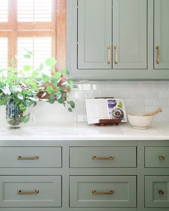 Green Kitchen Units Sage Green Paint Colors For Kitchen: Our Paint Guide To Cabinet Colors