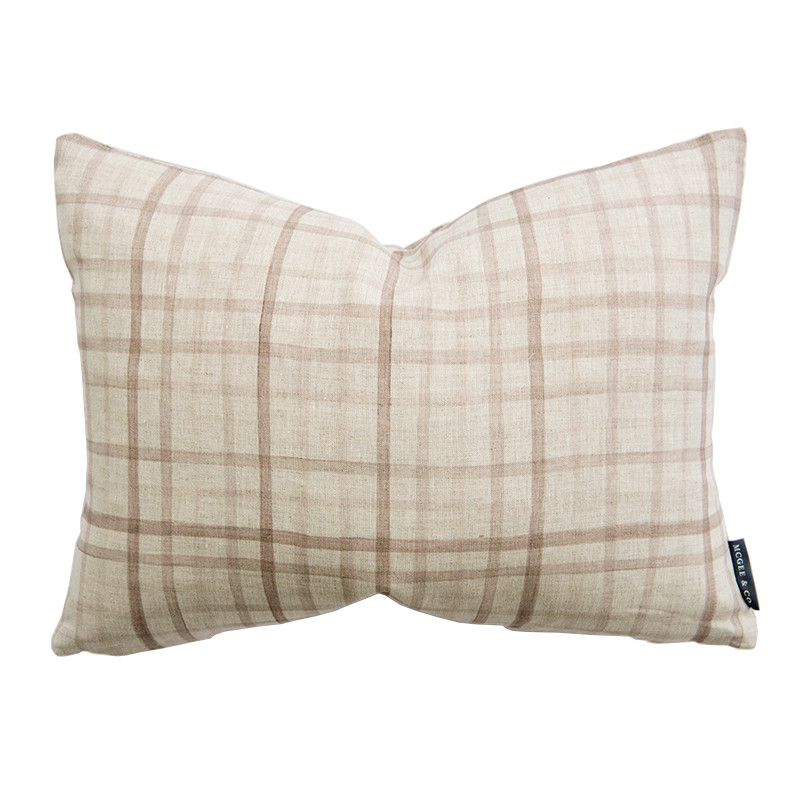 Watercolor Plaid Pillow - McGee & Co.