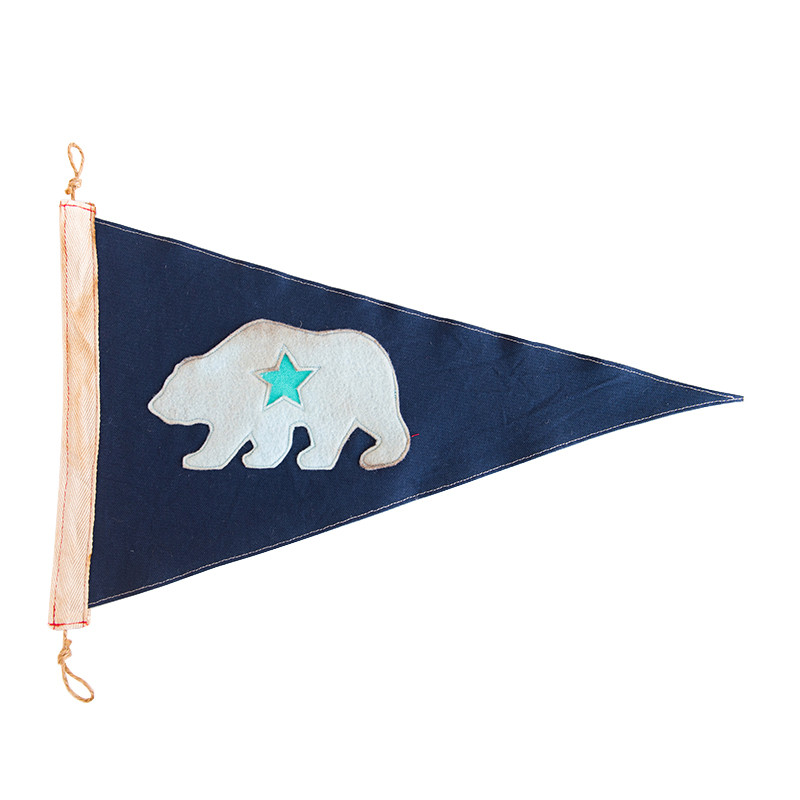 California Bear Pennant - McGee & Co.