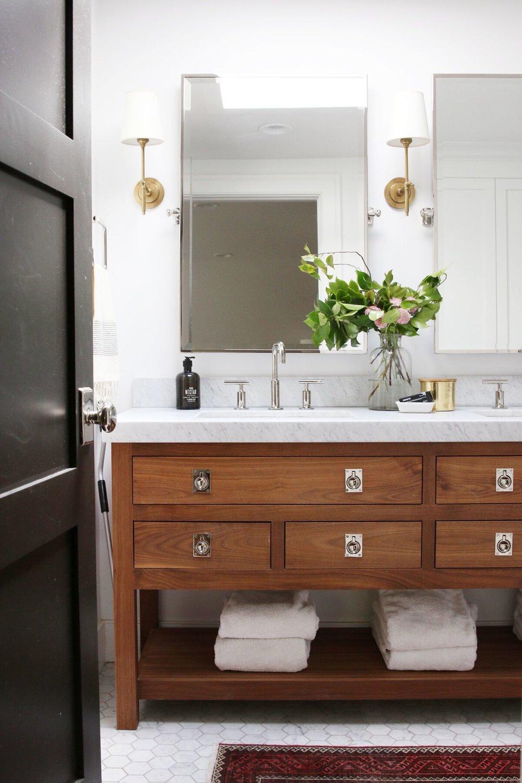 Get the Look: Lynwood Master Bathroom — STUDIO MCGEE Bathroom With Stripe Designs Html on houzz bathroom design, industrial chic bathroom design, hippie bathroom design, camo bathroom design, safari style bathroom design, vintage inspired bathroom design, asian inspired bathroom design,