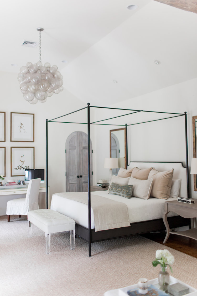 Custom made bed by Millbrook Furniture in our Parade Home & Trends We love: Canopy Beds \u2014 STUDIO MCGEE