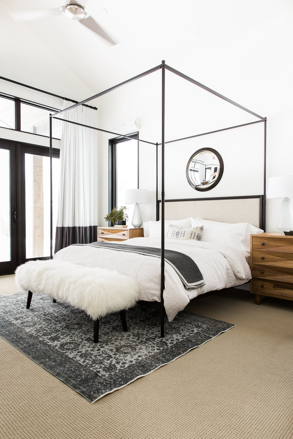 Trends we love canopy beds studio mcgee for Mountain modern bedroom