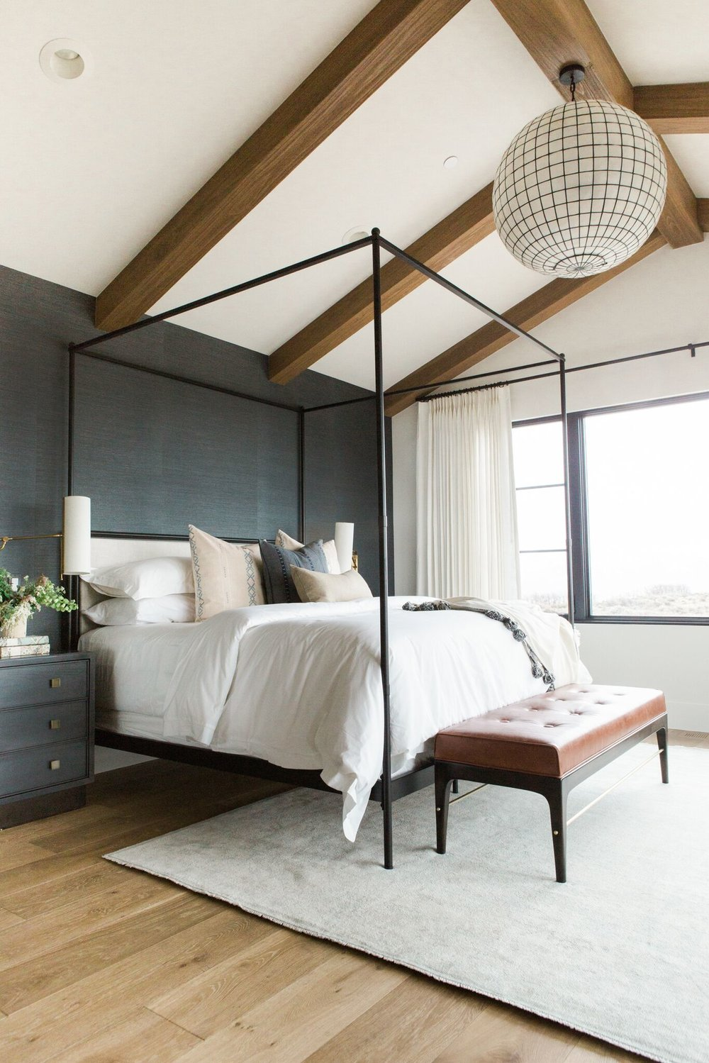 Bed by Restoration Hardware in our Promontory Project : canopy-bed-studio-apartment - designwebi.com