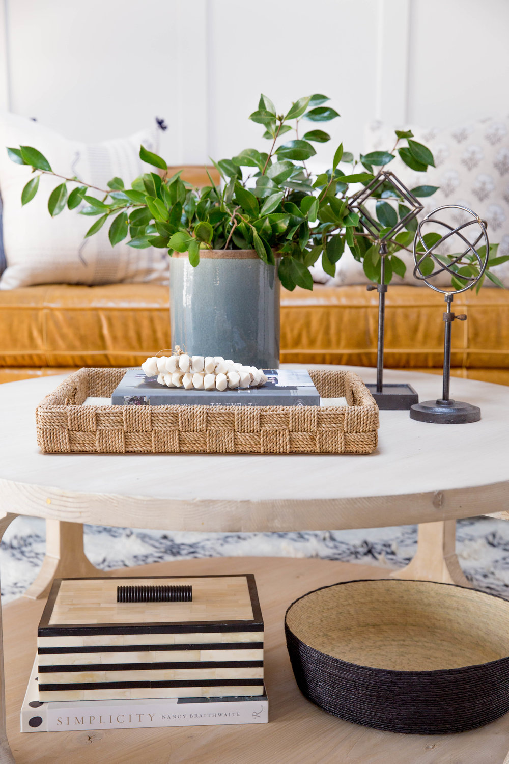 How to style a round coffee table studio mcgee how to style a round coffee table geotapseo Image collections