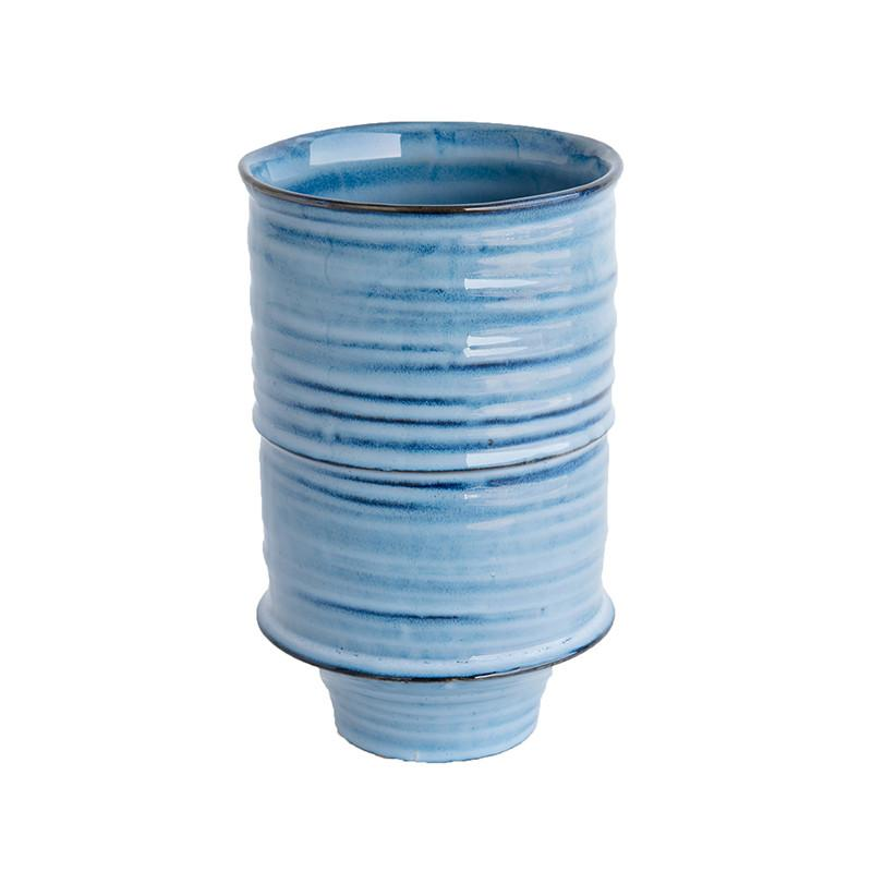 Indigo Ceramic Vase - McGee & Co.
