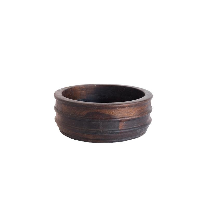 Ribbed Wooden Bowl - McGee & Co.