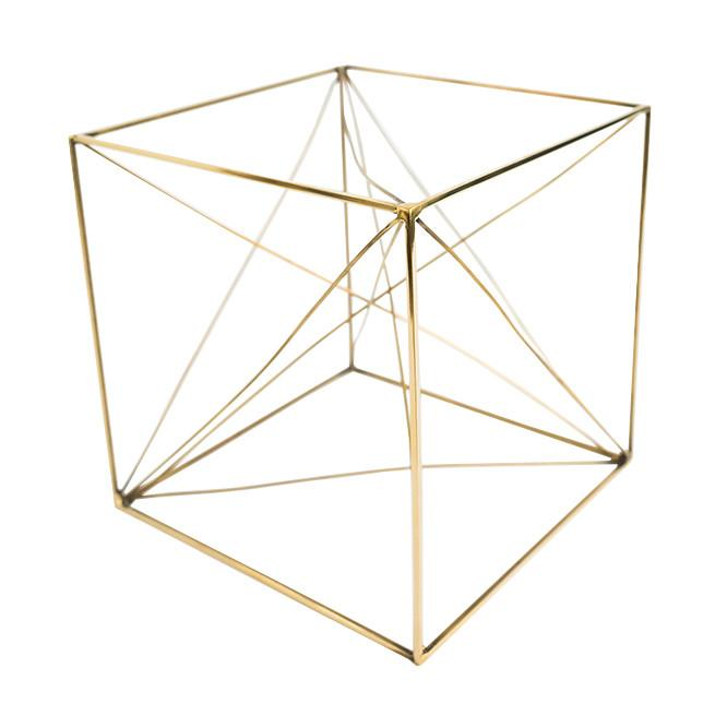 Brass Cube Object - McGee & Co.