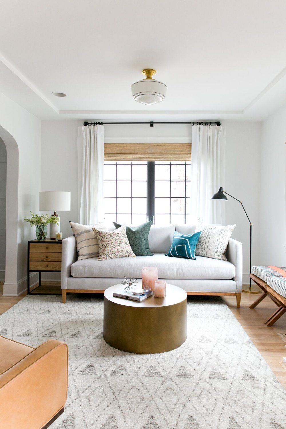 ... Style It Is, It Will Always Look Off. We Recommend Taping It Out To  Scale Prior To Ordering To Make Sure You Like The Size Of The Sofa In Your  Space.