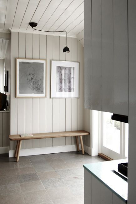 Interior Wood Paneling: Why We Love Painted Vertical Wood Paneling