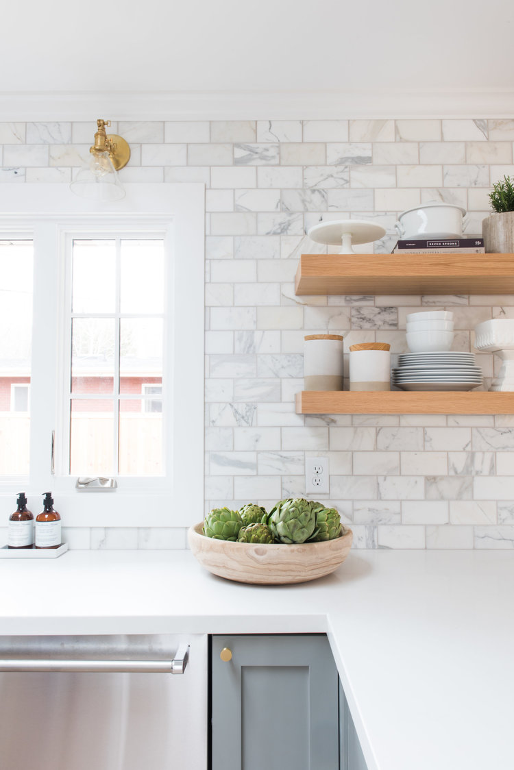 Give Your Space A More Luxe Feel By Using A Marble Tile In The Same  Shape/size As Subway Tile.
