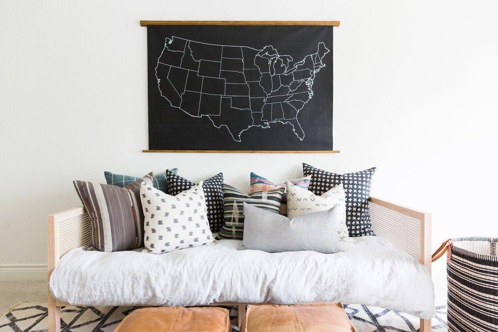 Shop USA Chalkboard Map