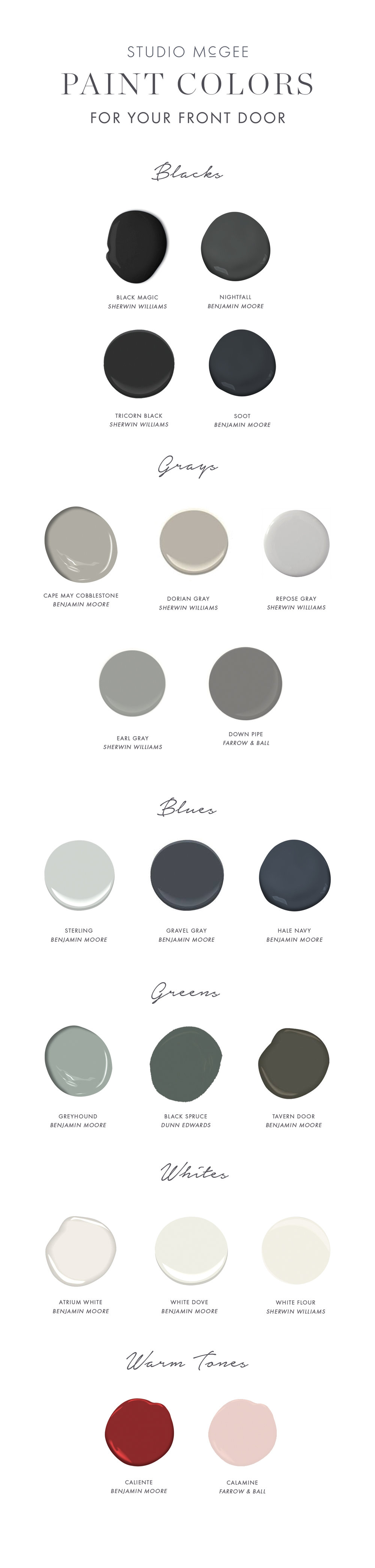 Paint Colors for Your Front Door