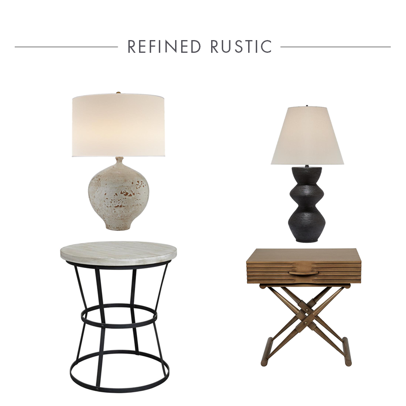 Quincy Side Table + Gannet Table Lamp In Our Claybourne Project
