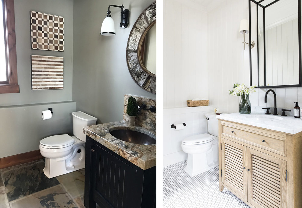 Get The Look Two Toned Bathroom Studio Mcgee