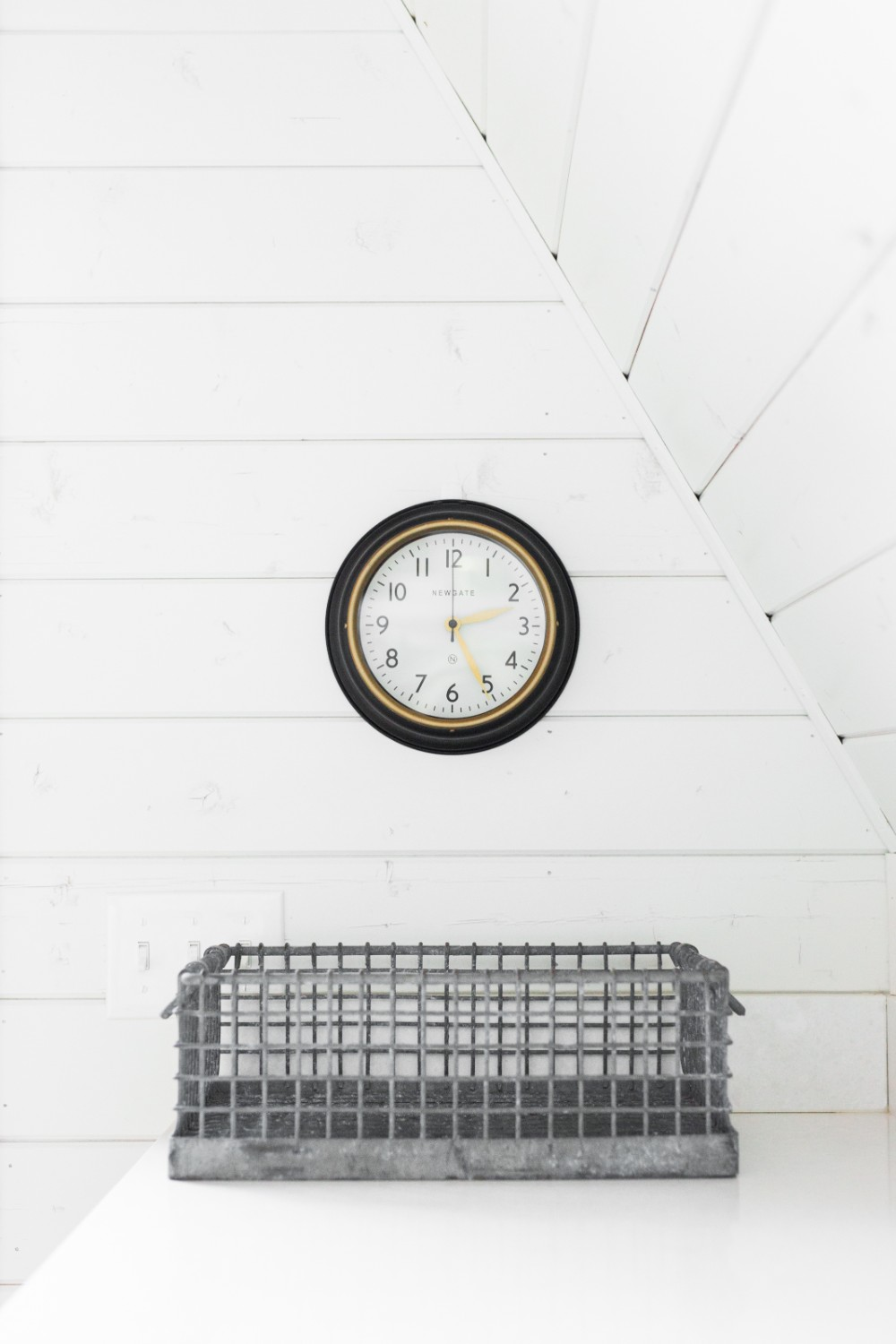 Stackable Wire Basket    Mini   Norfolk Clock in Black