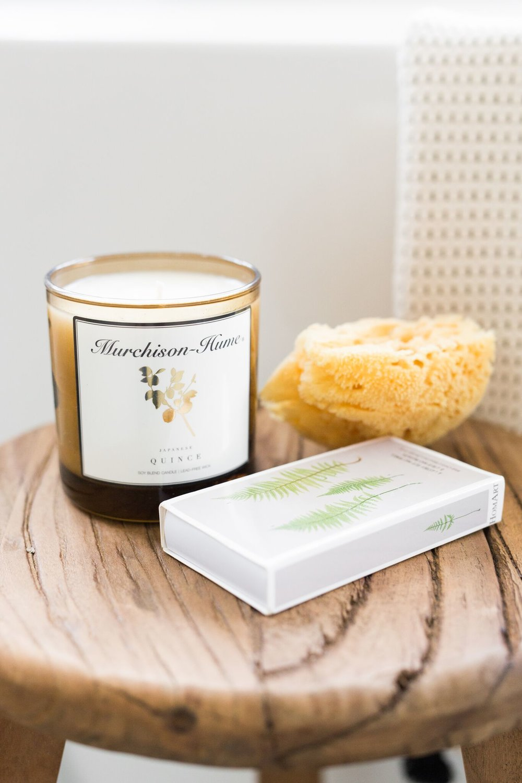 Shop:    Murchison Candle   ,    Sea Sponge   ,    Fern Matchbox