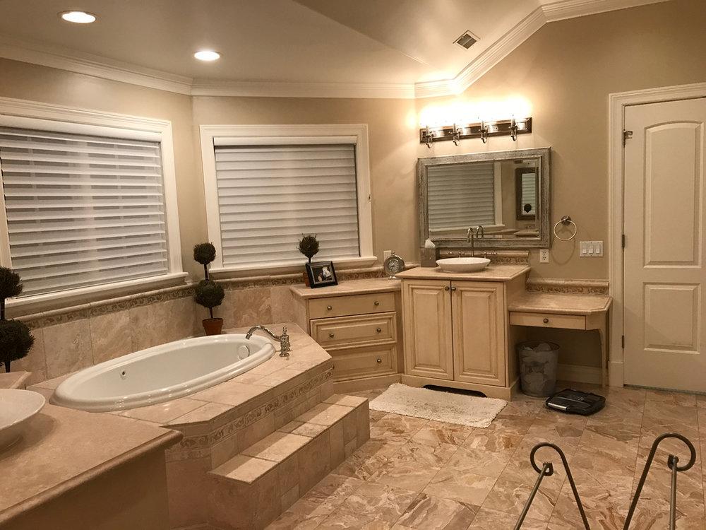 Crisp Modern Master Bathroom Remodel