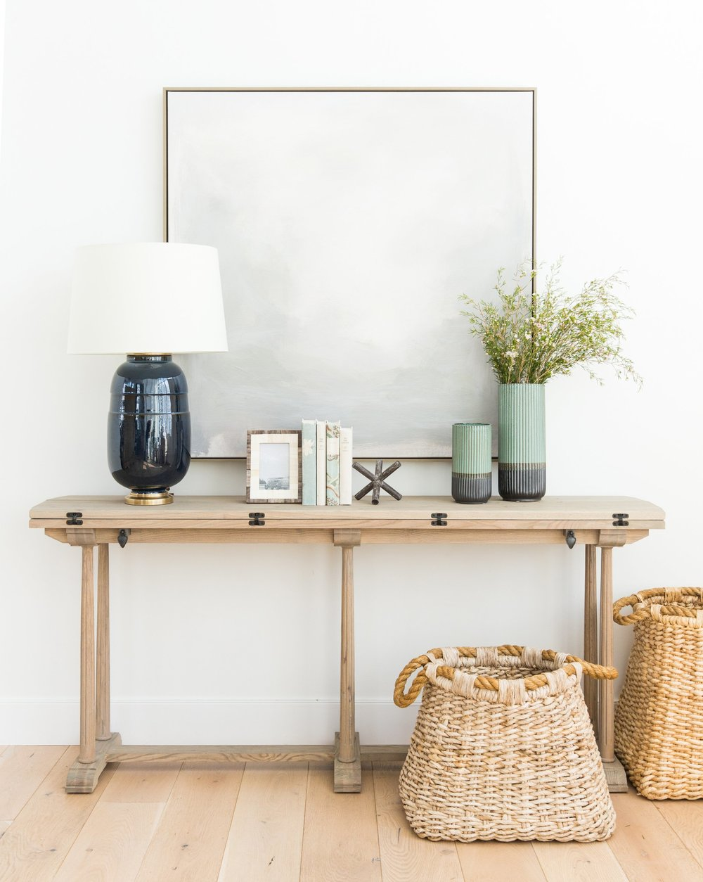 Milo Console Table  +  Newcomb Table Lamp  +  Mountain Fog