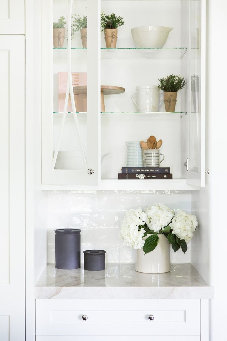 How-To Style Glass Cabinets
