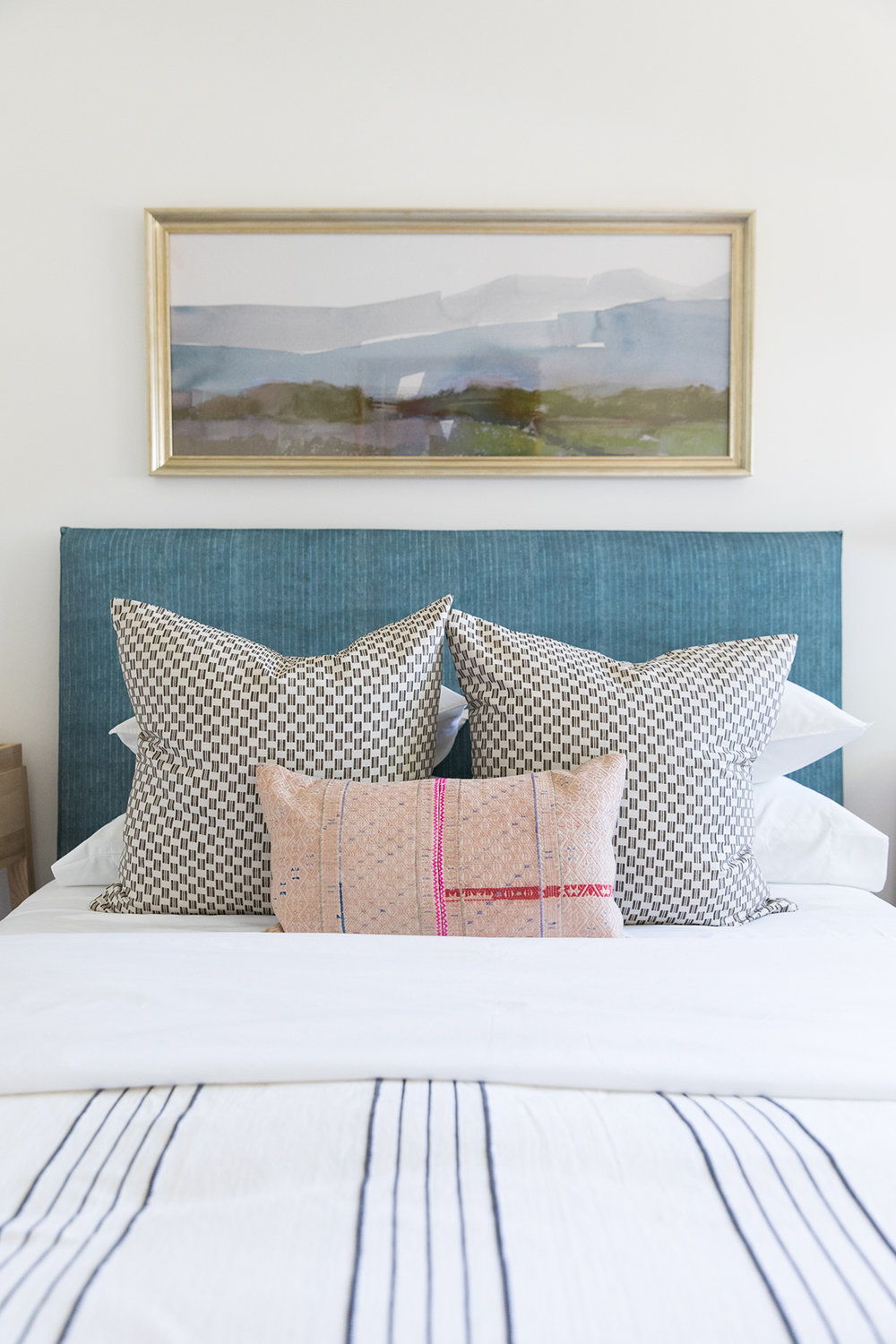 Coastal, eclectic, textured, ranch style bedroom in Southern California | Studio McGee Blog