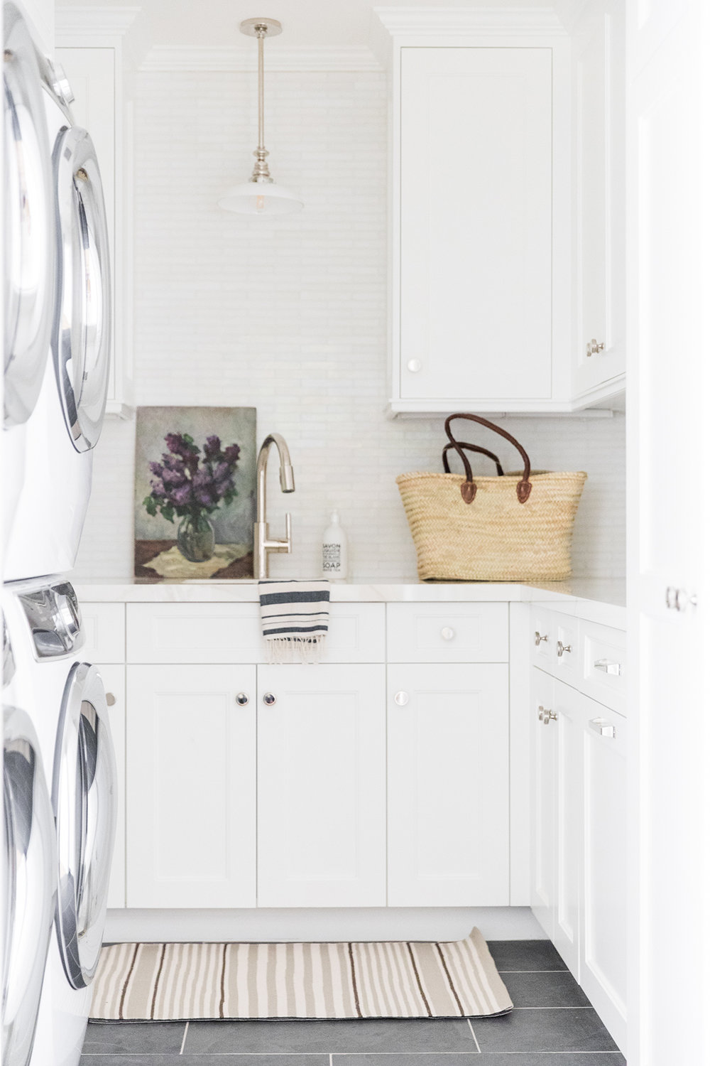 laundry room pendant over sink | studio mcgee design
