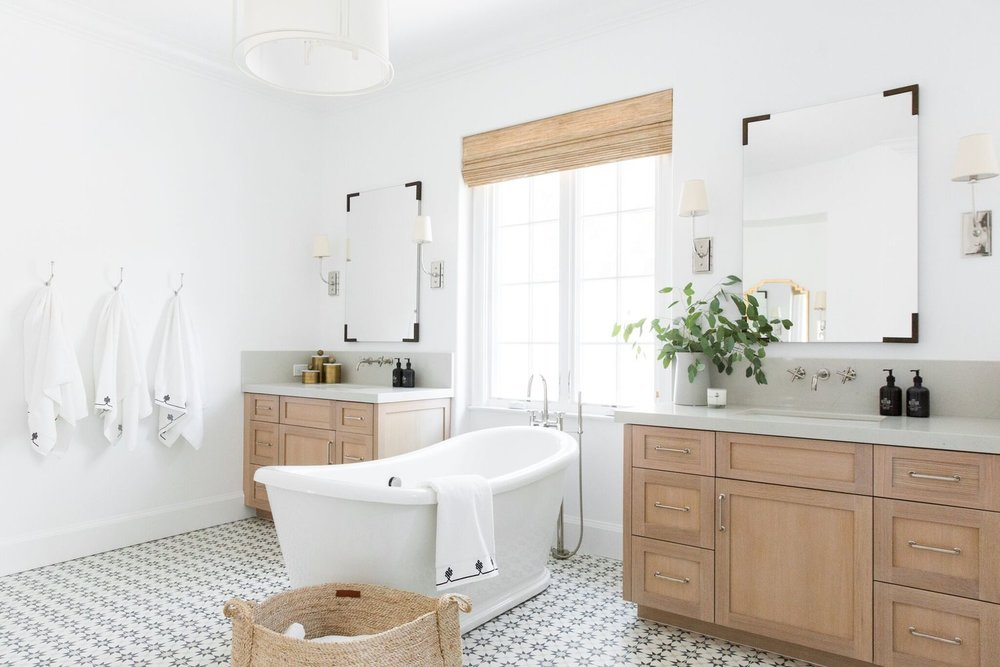 48 Master Bath Transformations We Can't Get Over STUDIO MCGEE Gorgeous Master Bathroom
