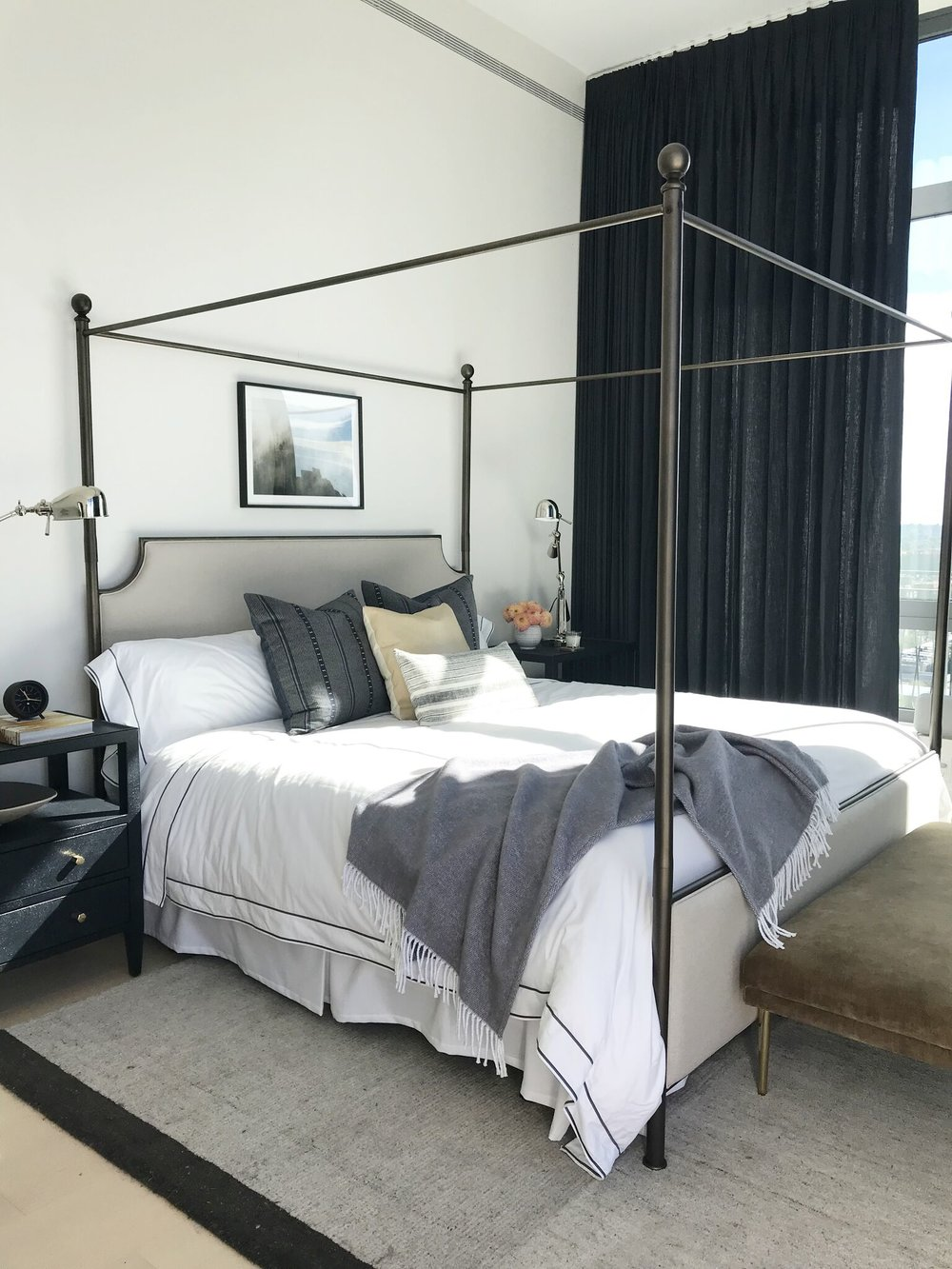 Real Simple Magazine - Brooklyn Penthouse Master Bedroom by Studio McGee