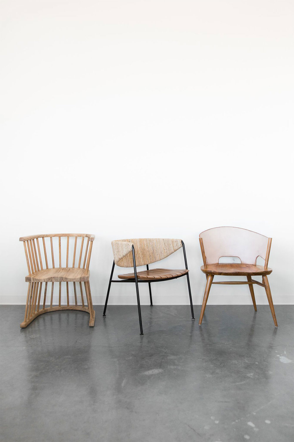Beautiful natural sculptural chairs from McGee & Co. | mcgeeandco.com