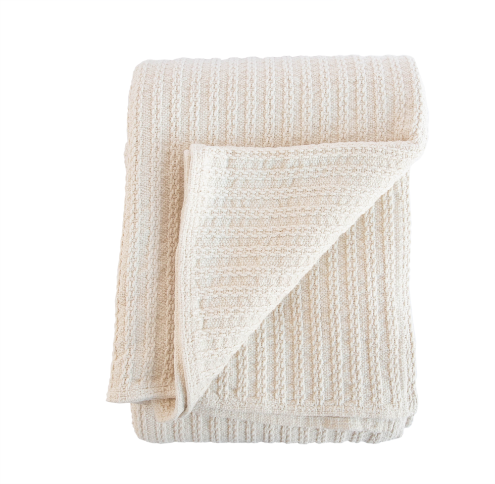 Cable Knit Throw - Woven in Portland, Maine