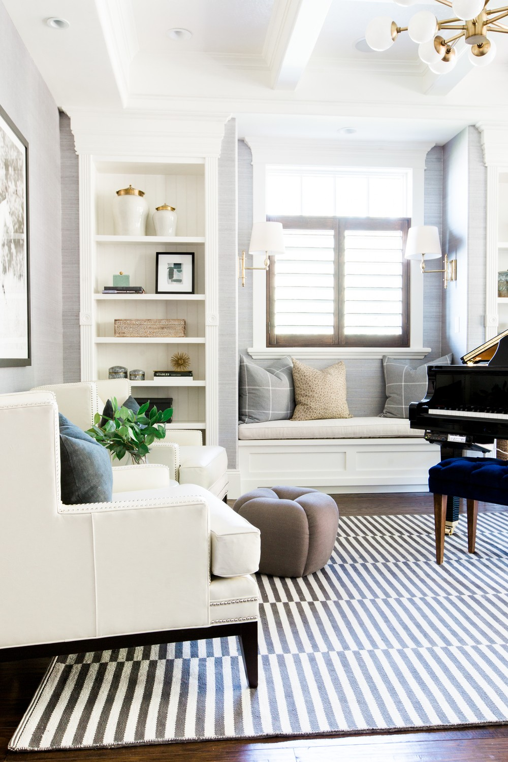 Mountainside remodel piano room || Studio McGee