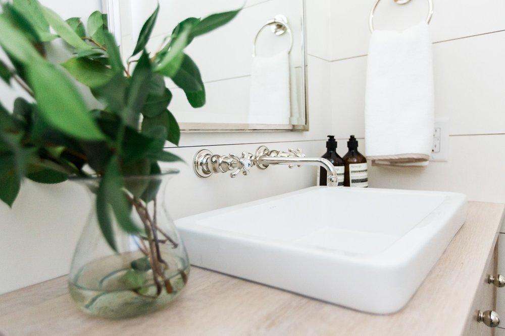 Wallmounted faucet || Studio McGee
