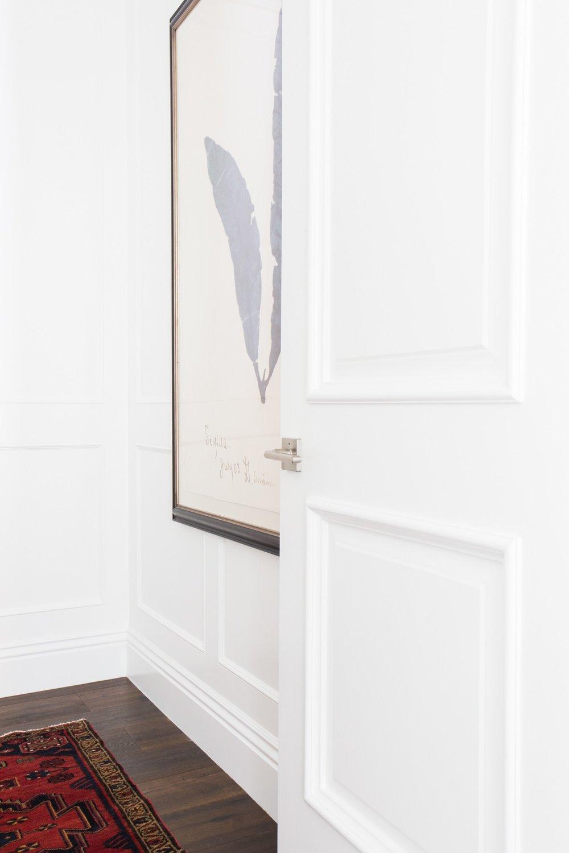 Navy feather artwork || Studio McGee