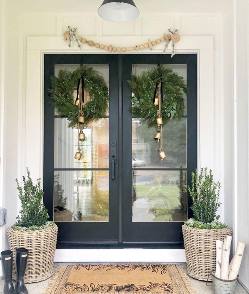 Wreath + Doormat - by Eye for Pretty