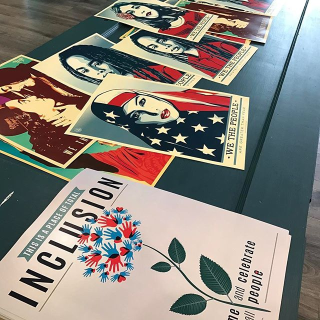 Pick up your free posters care of the We The People effort. Printed for free (or donate to the ACLU) at @fbistudios and @thefeatherandfox