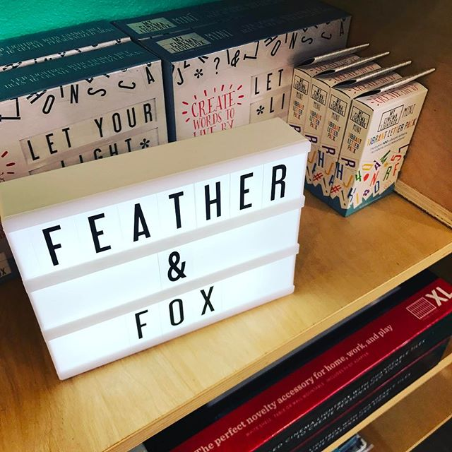 Guess who's back? The shop is nearly all stocked. Come see our newest goodies! #movielightbox #featherandfox #langleywashington